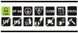 Характеристики светодиодного промышленного прожектора OSF12-01 12Вт IP66 850Лм NLCO «Новый Свет» (Рязань)