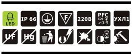 Характеристики светодиодного промышленного прожектора OSF40-03 40Вт IP66 4800Лм NLCO «Новый Свет» (Рязань)