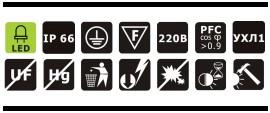 Характеристики светодиодного промышленного прожектора OSF20-02 20Вт IP66 2400Лм NLCO «Новый Свет» (Рязань)