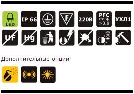 Характеристики светодиодного промышленного прожектора OSF50-10 54Вт IP66 5000Лм NLCO «Новый Свет» (Рязань)