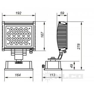 Светодиодные промышленные прожектора OSF20-02 20Вт IP66 2400Лм NLCO «Новый Свет» (Рязань)