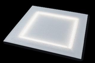"""Светодиодный светильник """"Офис Премиум"""", 28 Вт, колотый лед, включен"""