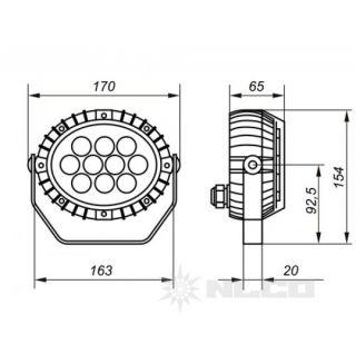 Светодиодные декоративные прожектора OSF12-01 12Вт IP66 850Лм NLCO «Новый Свет» (Рязань)