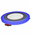 Светильник с декоративной подсветкой 3+2Вт 5500-6000К синий 105 (80) мм