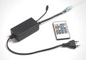 Вилка-контроллер для ленты 220В RGB с пультом