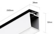 Профиль для стеклянных полок PS.3452