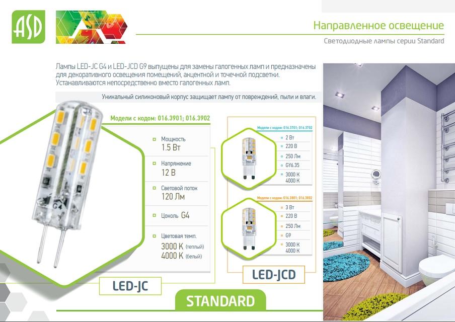 Лампа LED JCD серии Standard 3 Вт - преимущества